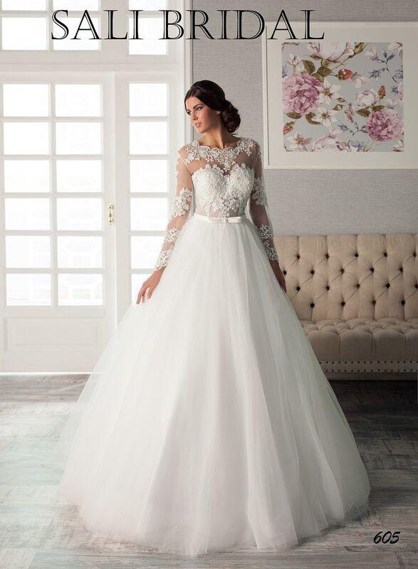 Свадебный салон Sali Bridal Свадебное платье 605 - фото 1