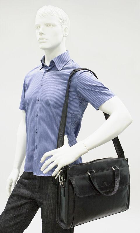 Магазин сумок Francesco Molinary Сумка мужская черная 513-7136-060 - фото 3