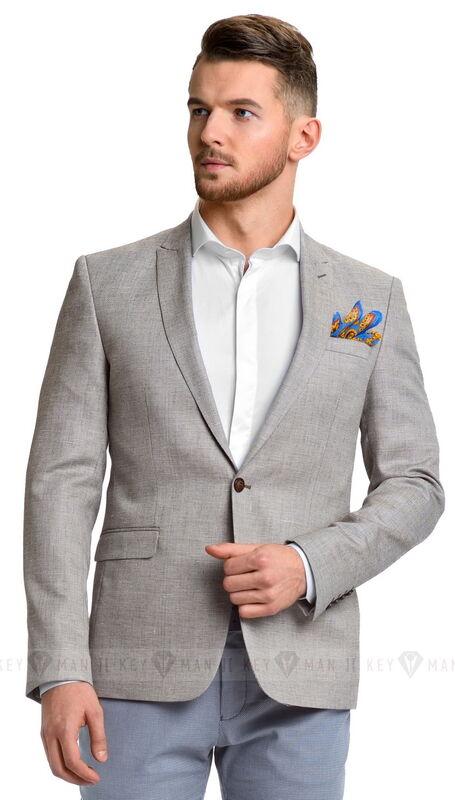 Пиджак, жакет, жилетка мужские Keyman Пиджак мужской светло-бежевый с облегченной подкладкой - фото 1