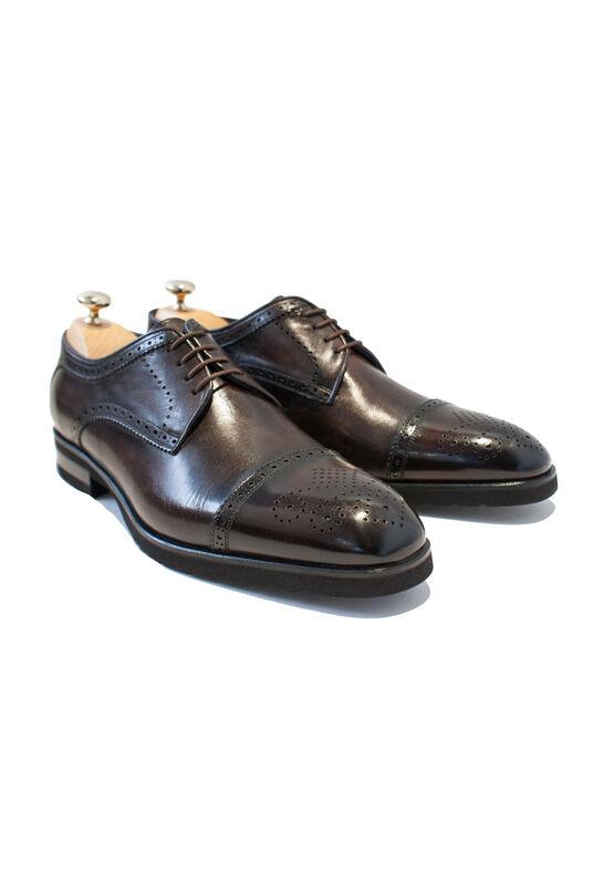 Обувь мужская HISTORIA Туфли мужские дерби, броги темно коричневые - фото 1