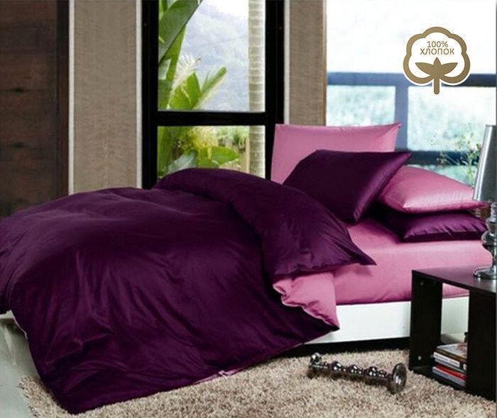 Подарок Tango Однотонное постельное белье из сатина на резинке евро  JT32 - фото 1