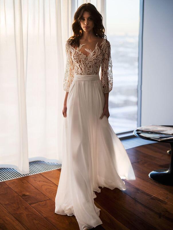 Свадебное платье напрокат Natalia Romanova Свадебное платье  Sheyla - фото 1