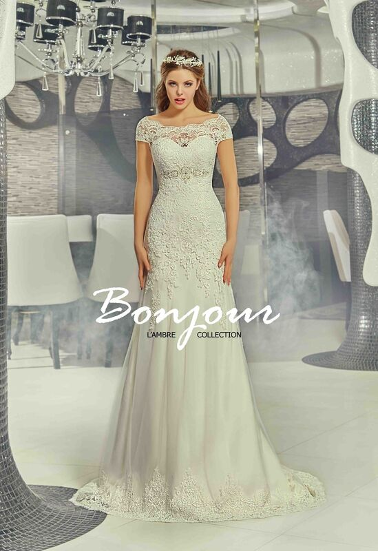 Свадебное платье напрокат Bonjour Платье свадебное «Jessi» из коллекции LAMBRE 2017 - фото 1