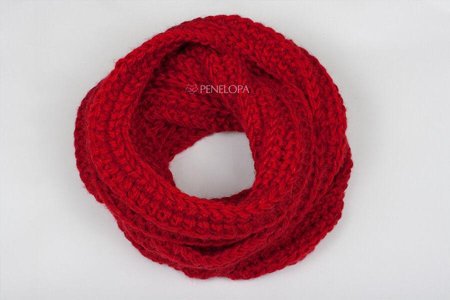 Шарф и платок PENELOPA Красный шарф-снуд в два оборота M65 - фото 2