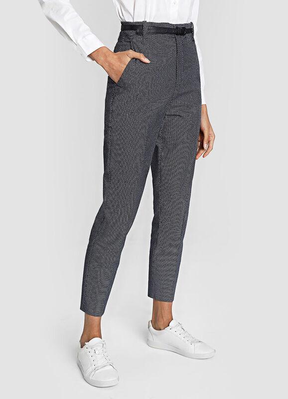 Брюки женские O'STIN Жаккардовые брюки с поясом LP4W51-68 - фото 1