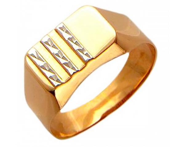 Ювелирный салон Эстет Золотое кольцо 01Т714783 - фото 1