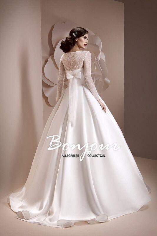 Свадебное платье напрокат Bonjour Платье свадебное «Kira» из коллекции ALLEGRESSE 2017 - фото 3