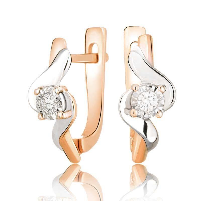 Ювелирный салон Jeweller Karat Серьги золотые с бриллиантами арт. 3224045/9 - фото 1