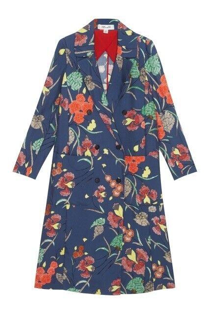 Верхняя одежда женская Diane von Furstenberg Пальто женское в цветы - фото 1