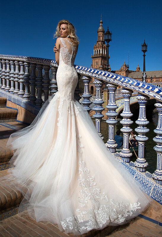 Свадебное платье напрокат Oksana Mukha Платье свадебное Esperansa - фото 2