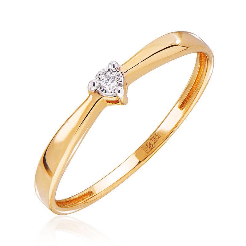 Ювелирный салон Jeweller Karat Кольцо золотое с бриллиантами арт. 3212061/9 - фото 1
