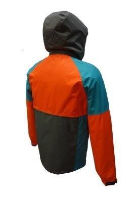 Спортивная одежда Free Flight Мужская мембранная горнолыжная куртка оранжево-серая - фото 2