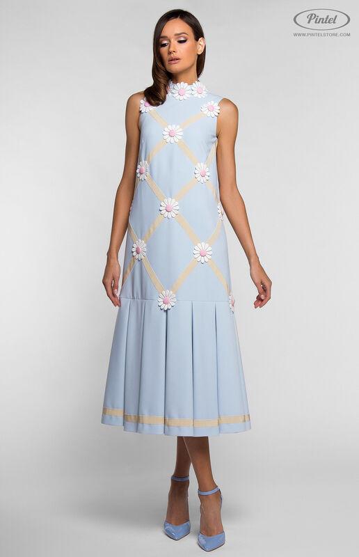 Платье женское Pintel™ Миди-платье свободного силуэта GLORISEL - фото 3