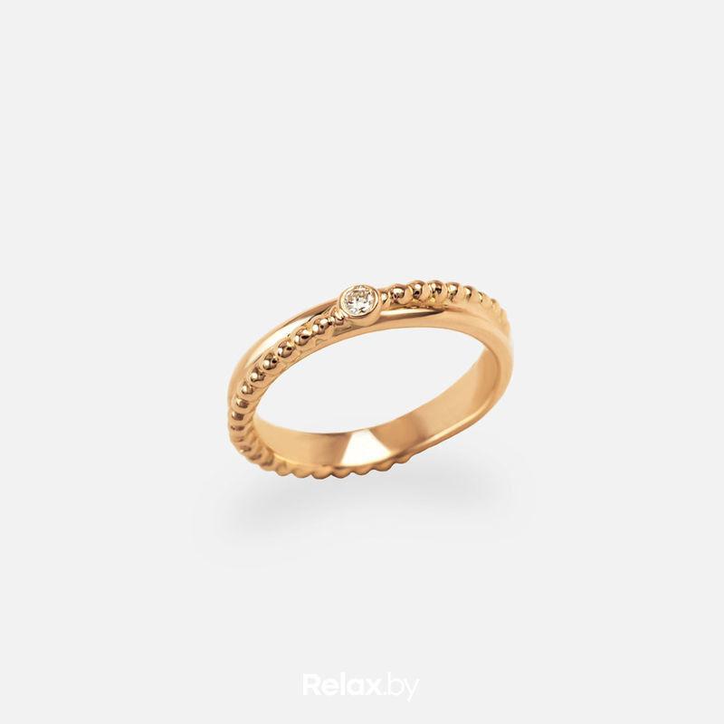 Ювелирный салон Белорусские Бриллианты Кольцо из золота со вставкой бриллиант синт. 21010042 - фото 1