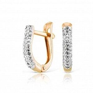 Ювелирный салон Jeweller Karat Серьги золотые с бриллиатами арт. 1223730 - фото 1