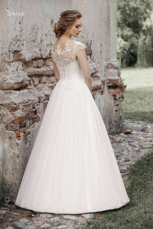Свадебное платье напрокат Vintage Платье свадебное «Элина» - фото 2