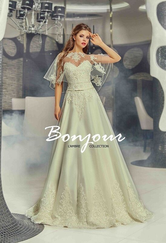 Свадебное платье напрокат Bonjour Платье свадебное «Carmen» из коллекции LAMBRE 2017 - фото 1