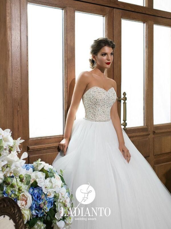 Свадебное платье напрокат Ladianto Платье свадебное Adelaide D-7117 Abelarda - фото 3