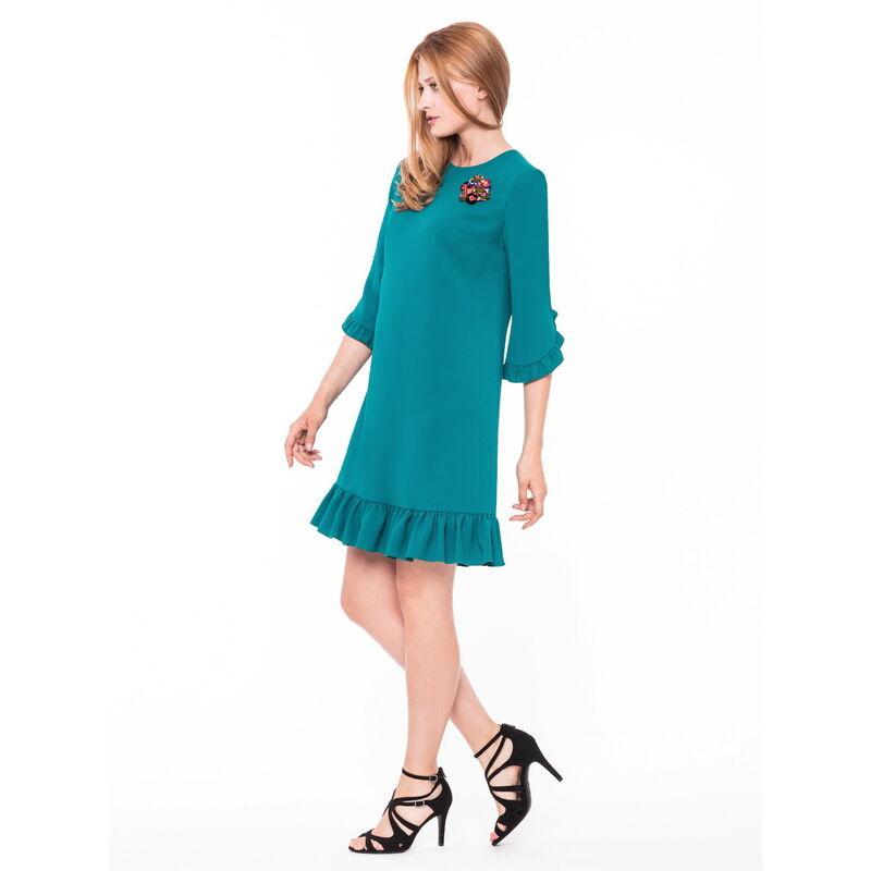 Платье женское L'AF Платье Arize 39YL (бирюзовое) - фото 1