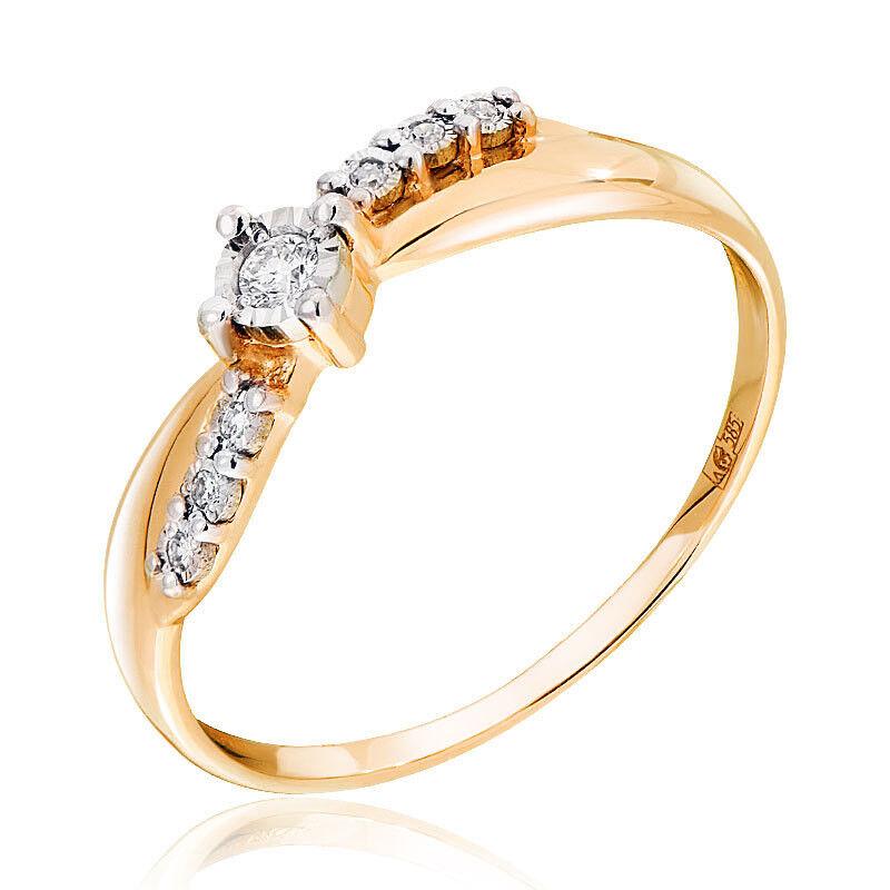 Ювелирный салон Jeweller Karat Кольцо золотое с бриллиантами арт. 3216469/9 - фото 1