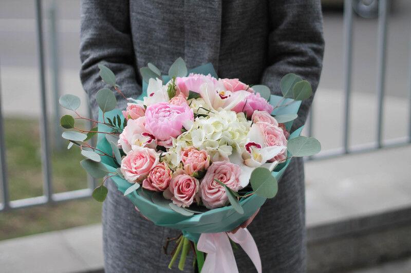 Магазин цветов Cvetok.by Букет «Розовая гавань» - фото 1