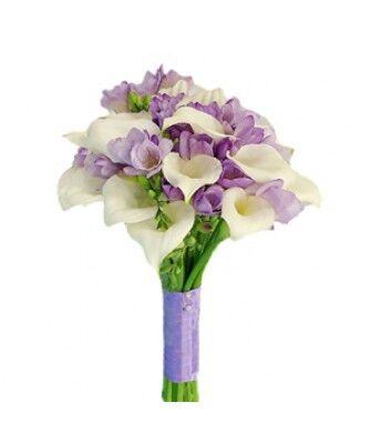 Магазин цветов Фурор Букет из калл и фрезий - фото 1