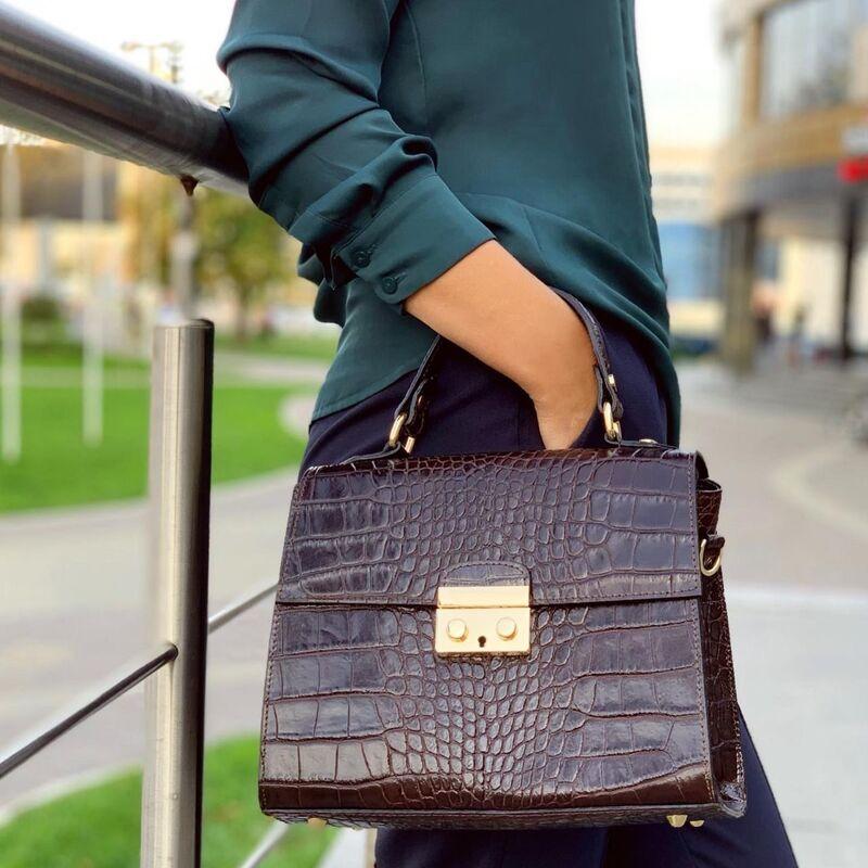 Магазин сумок Vezze Кожаная женская сумка C00538 - фото 1