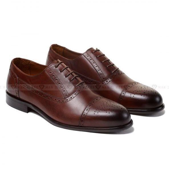 Обувь мужская Keyman Туфли мужские оксфорды броги коричневые New - фото 1