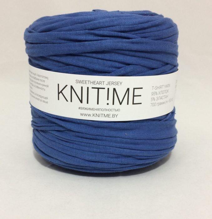 Товар для рукоделия Knit!Me Ленточная пряжа Sweetheart Jersey - Синий лед (SJ433) - фото 1