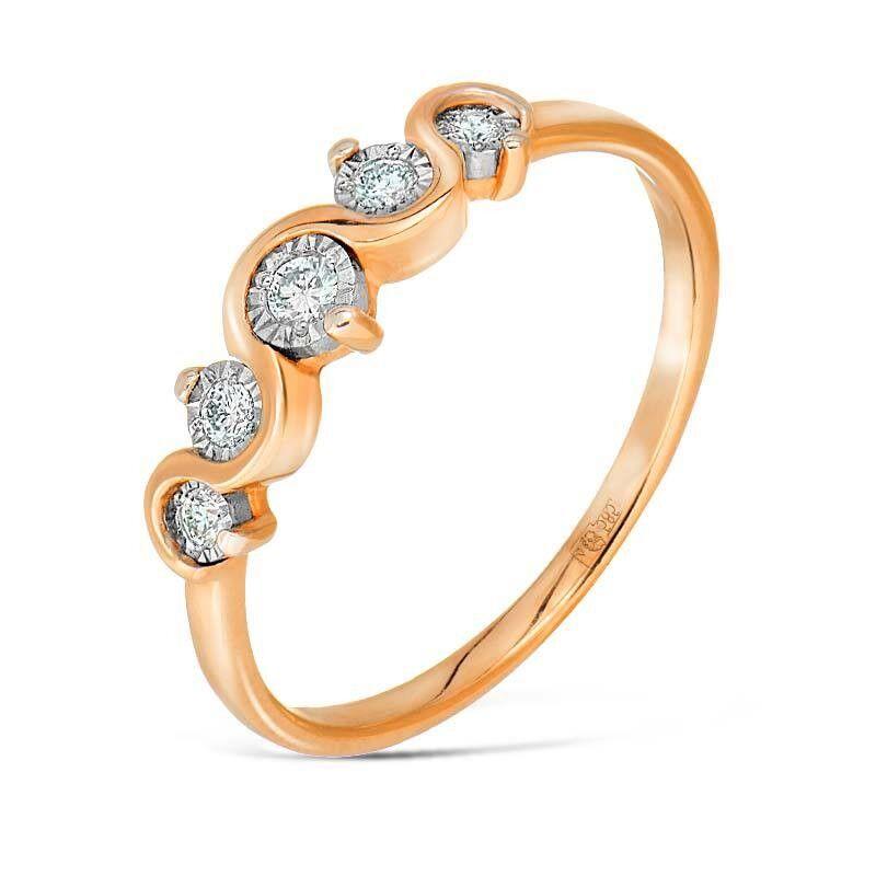 Ювелирный салон Jeweller Karat Кольцо золотое с бриллиантами арт. 3213572/91 - фото 1