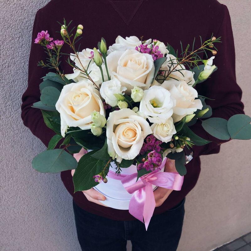 Магазин цветов Кошык кветак Коробочка классическая №2 - фото 1