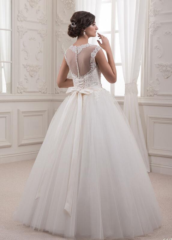 Свадебное платье напрокат White One (Pronovias) Платье свадебное «Sabina» - фото 2