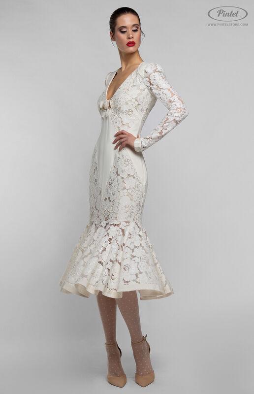 Платье женское Pintel™ Приталенное миди-платье MAURINNIKA - фото 2