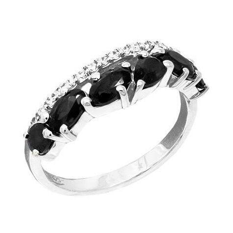 Ювелирный салон Evora Кольцо из серебра 925 пробы с сапфирами и фианитами 625759 - фото 1