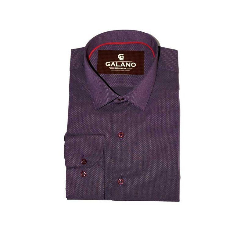 Кофта, рубашка, футболка мужская Galano Рубашка фиолетовая - фото 1