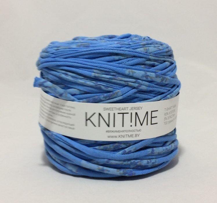 Товар для рукоделия Knit!Me Ленточная пряжа Sweetheart Jersey - Незабудка (SJ261) - фото 1
