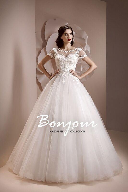 Свадебное платье напрокат Bonjour Платье свадебное «Lorena» из коллекции ALLEGRESSE 2017 - фото 1