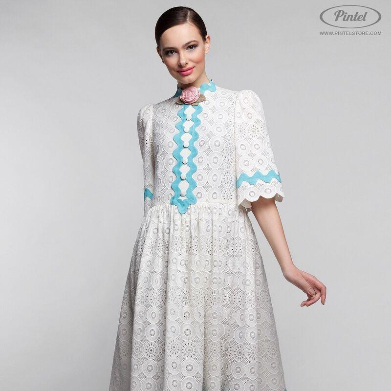 Платье женское Pintel™ Миди-платье свободного силуэта Farzana - фото 1