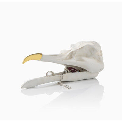 Подарок на Новый год Suck UK Шкатулка для украшений Bird Skull (белый) - фото 1