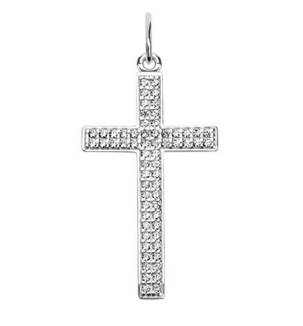 Ювелирный салон Sokolov Крест из серебра с фианитами 94030202 - фото 1