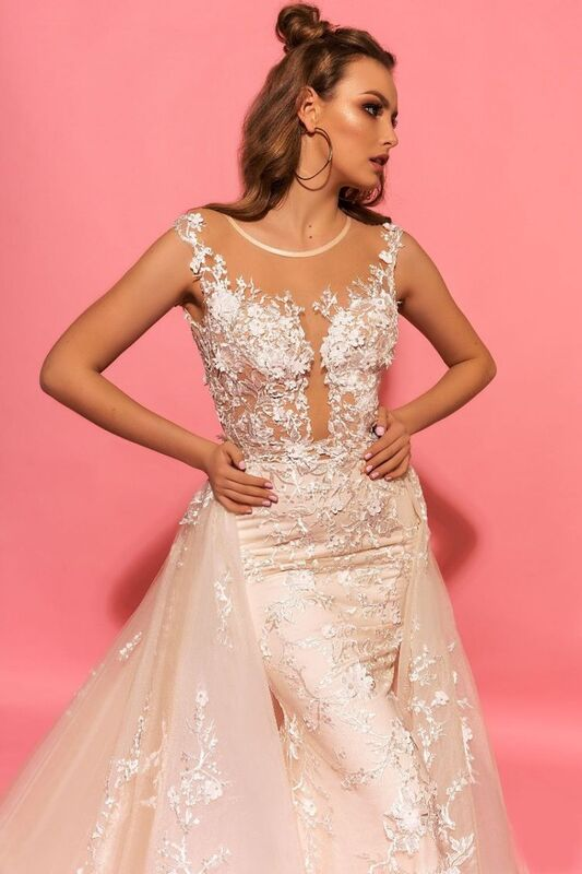 Свадебное платье напрокат Eva Lendel Платье свадебное Hizer - фото 3
