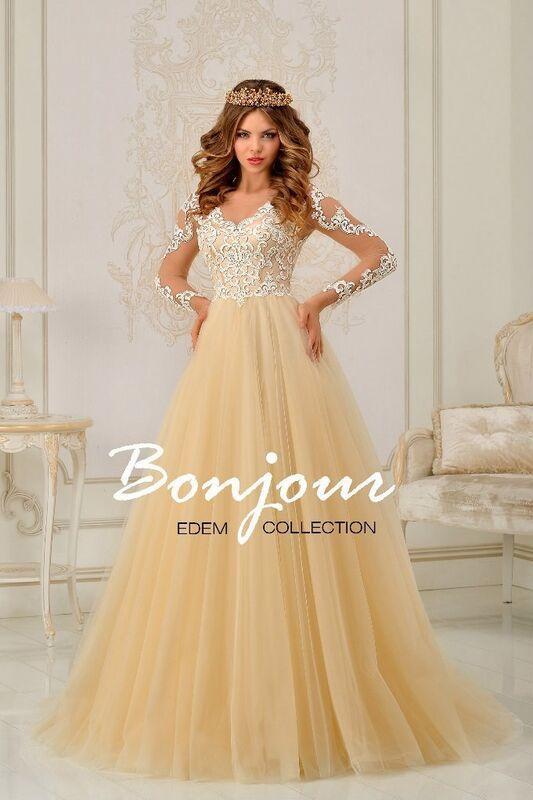 Свадебное платье напрокат Bonjour Платье свадебное «Levana» из коллекции EDEM 2016 - фото 1