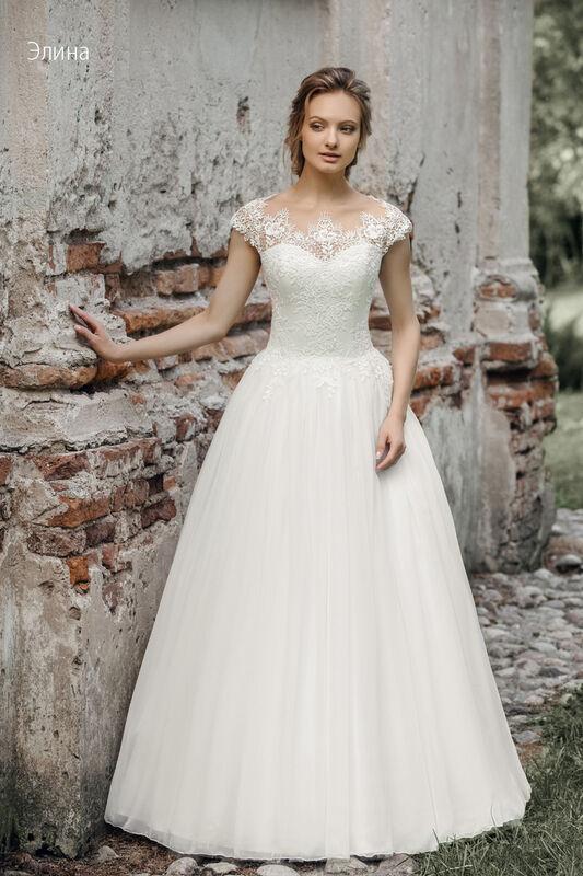 Свадебное платье напрокат Vintage Платье свадебное «Элина» - фото 1