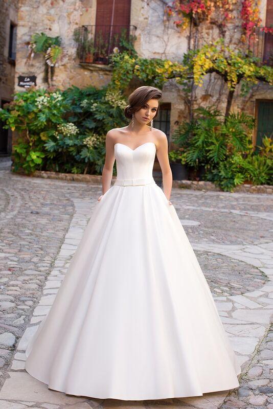 Свадебное платье напрокат Bonjour Платье свадебное «Zara» из коллекции LA SENSUALITE 2017 - фото 1