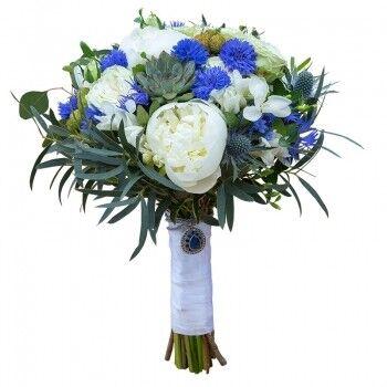 Магазин цветов Ветка сакуры Свадебный букет № 117 - фото 1