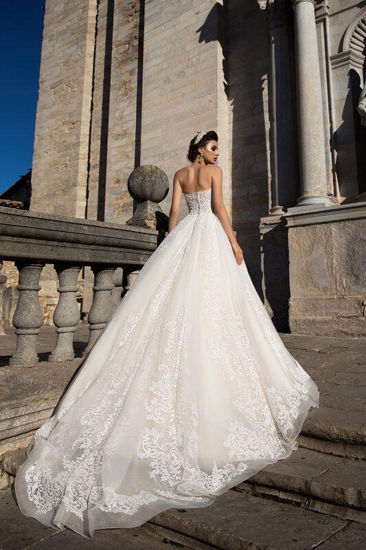 Свадебное платье напрокат Bonjour Платье свадебное «Apollo» из коллекции LA SENSUALITE 2017 - фото 2