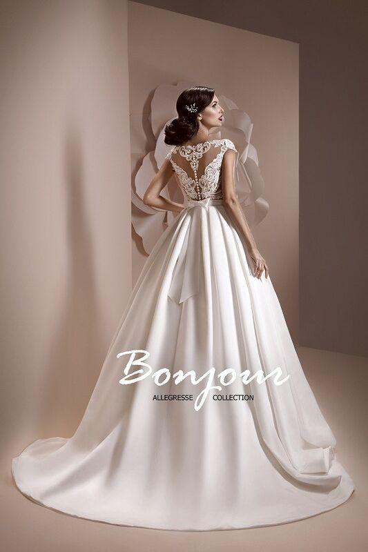 Свадебное платье напрокат Bonjour Платье свадебное «Esma» из коллекции ALLEGRESSE 2017 - фото 2