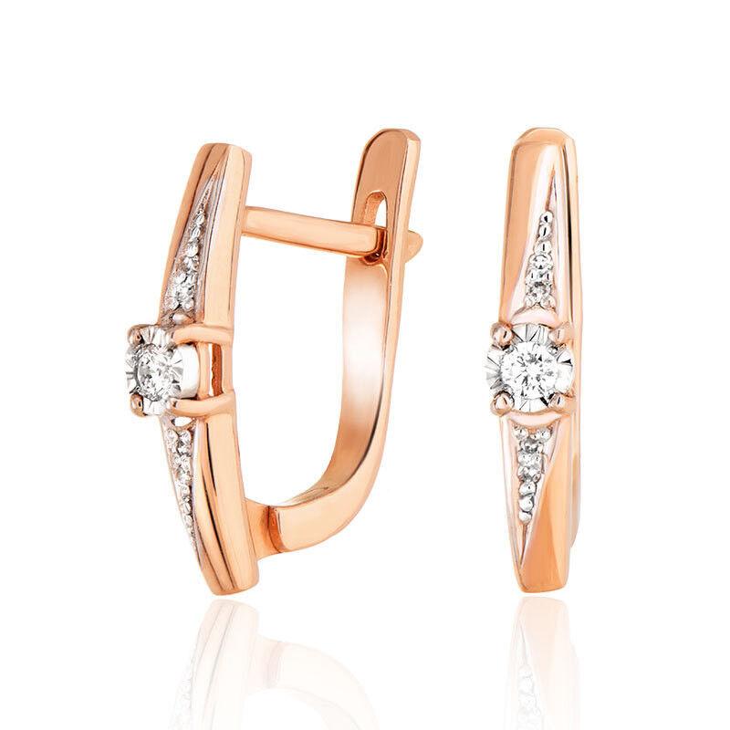 Ювелирный салон Jeweller Karat Серьги золотые с бриллиантами арт. 3224864/9 - фото 1