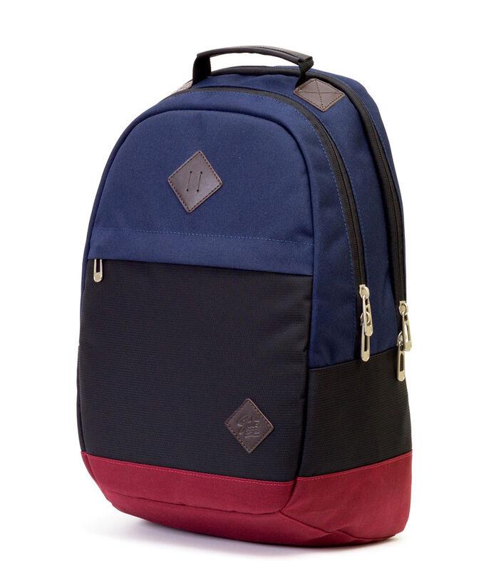 Магазин сумок Studio 58 Рюкзак молодежный с отделением для ноутбука синий/черный/бордовый  9007 - фото 1