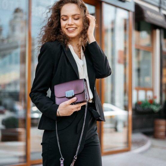 Магазин сумок Vezze Кожаная женская сумка C00529 - фото 2